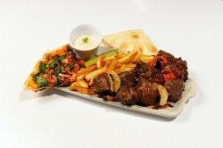 Beef skewers platter image