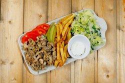 Chicken shawarma platter image