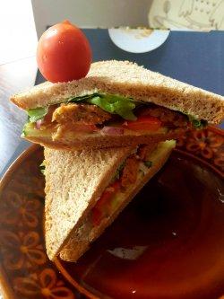 Sandwich cu ciuperci pleurotus/ PAINE CU MAIA image