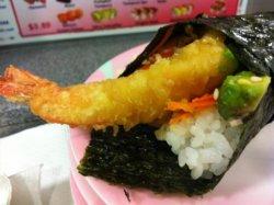 Shrimp katsu temaki