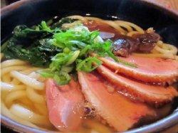 Duck udon soup