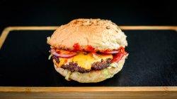 Cheddar burger image
