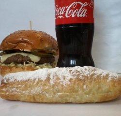 Combo Burger fresh-express de vită + cartofi prăjiți image