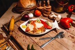 File șalău cu mozzarella și roșii la cuptor image