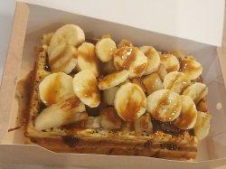 Waffles dublă cu nutella image