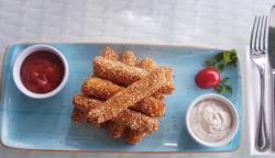 Mozzarella sticks cu sos de muștar dulce image