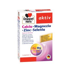 Calciu Magneziu Zinc Seleniu, 30 comprimate, Doppelherz image