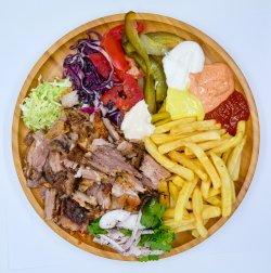 Shawarma shaorma vită farfurie image