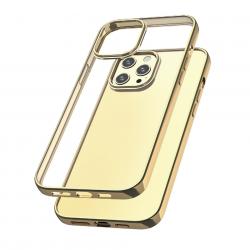 Capac protecție spate Tpu Electro Pentru Iphone 12 Pro Max - Auriu image