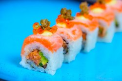 Crazy Salmon Sushi Roll image