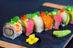 Rainbow Sushi Roll image