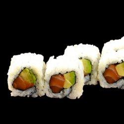 6 role sushi cu somon și avocado image