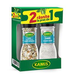 Kamis Râșniță Sare Mare90G+Sare Plante