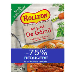 Rollton Bază Manc Gust Pui 75G(1+1-75%)