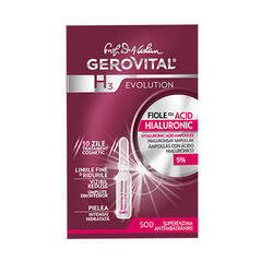 Gerovital H3 Fiole Cu Acid Hialuronic 10 X 2 ml