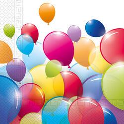 Set 20 Serv Masă Baloane 3 Str, 33X33 Cm