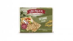 Burger  Sesame - SPECIALITATE DE PANIFICATIE CROCANTA DIN SECARA INTEGRALA, CU SEMINTE SUSAN, FELII, 250G image
