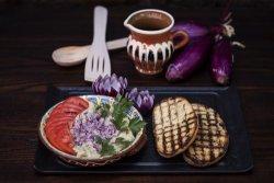 Salată de vinete coapte pe grătar