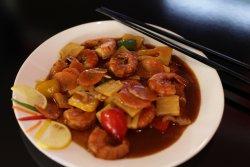 Creveți în sos chinezesc