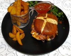 Pretzel Burger & Fries image
