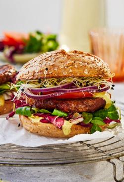Burger veggie, vegan (picant) image