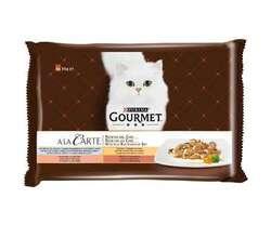 Gourmet A la Carte hrana umeda pentru pisici cu peste oceanic curcan somon rata 4 x 85 g image