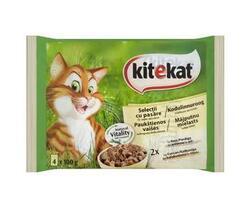 Kitekat hrana umeda completa cu rata si curcan pentru pisici adulte 4 x 100 g image