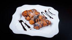 Banană prăjită cu topping de ciocolată sau miere image