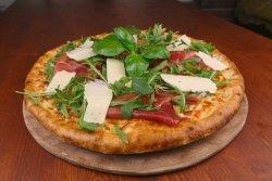 Pizza crudo zola e rucola medie
