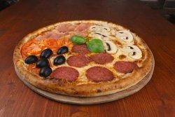 Pizza Quattro stagioni mega