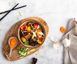 Vita cu ciuperci si legume image