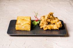 Cartofi cu patru sortimente de brânză și tempura de pleurotus image