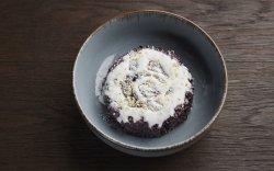 Black rice with condensed milk image