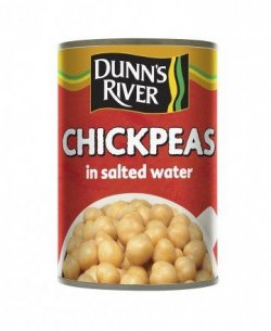 Dr chickpeas in salted water