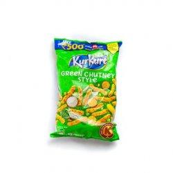 Kurkurs green chutney style image