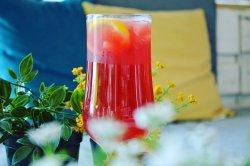 Strawberry rhubarb lemonade image
