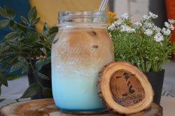 Blue latte image