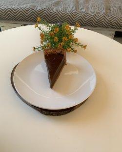 New york chocolate cheesecake image
