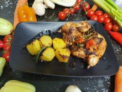 Galetto al forno con rosmarino e salsa picante