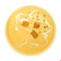 Supa crema de pui cu usturoi