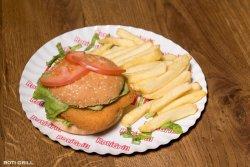 Hamburger de pui cu cartofi