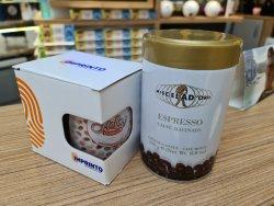 Oferta Cana personalizata Hello Donuts, 1 Espresso Macinato MiscelaD`Oro .Greutate neta 250 g, 1 Pix Personalizat Hello Donuts image