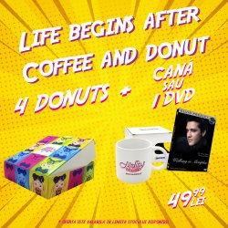 "4 Donuts plus DVD ``Walking in Memphis- Elvis Presley""  image"