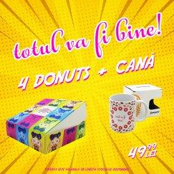Pachet 4 Donuts+ Cana TotulVaFiBineBy Imprinto image
