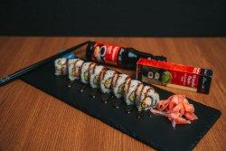 Sushi Uramaki Salmon Teriyaki Roll image