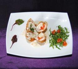 Pollo Alexander cu sos gorgonzola cu cartofi copti image