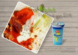 16. Meniu Fresh box lacto-vegetarian cu brânză + ayran