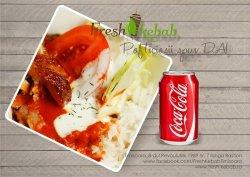 Meniu fresh box lacto-vegetarian mozzarella + coca cola