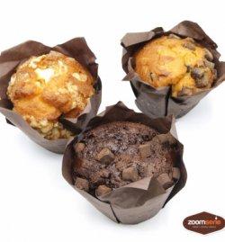 Muffin cu dulceață black cherry