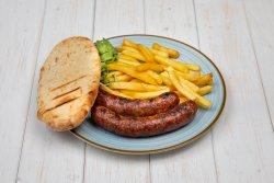 Cârnați grecești, cartofi prăjiți image